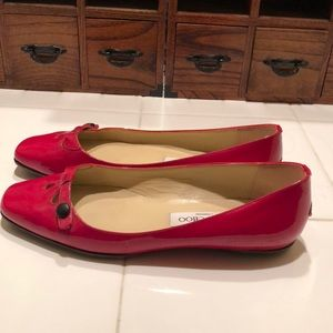 Red jimmy Choo flats